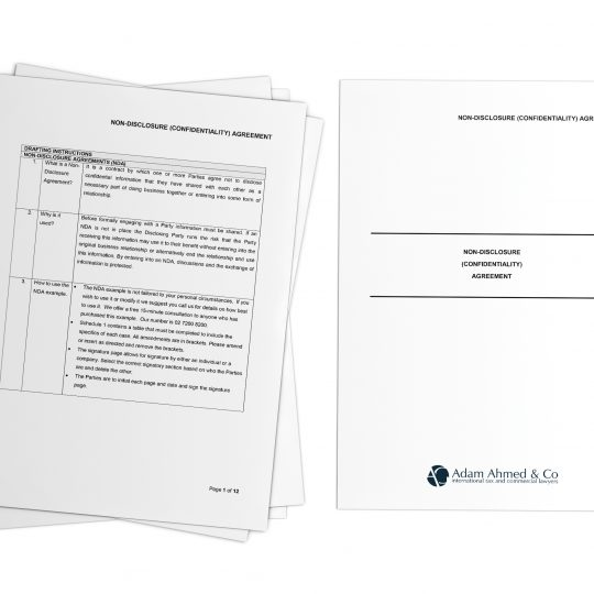 Non-Disclosure (Confidentiality) Agreement