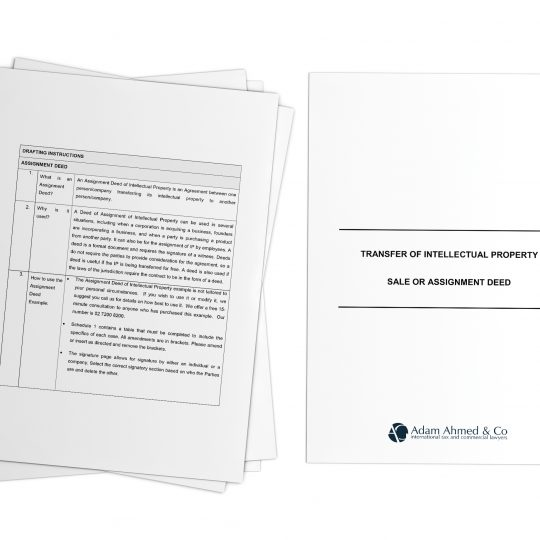 IP Assignment Deed template